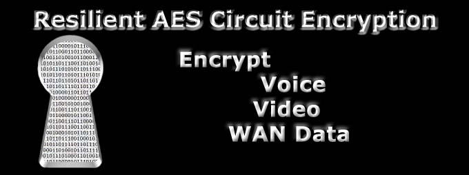 Circuit Encryption, Encrypt Voice Video WAN Data