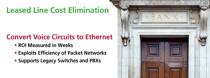 Leased Line Cost Elimination, Packet Networks, Legacy Switches, PBXs
