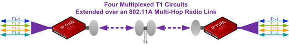 Multiplexed T1 over Ethernet