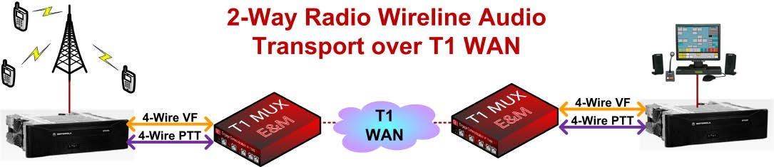 IP Tube VF 4 wire T1 MUX EM Diagram2