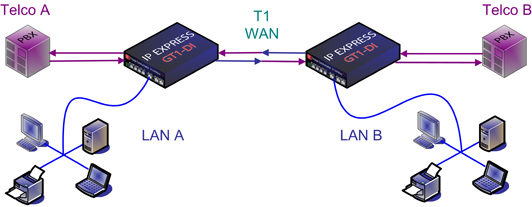 T1 WAN Router or Bridge with Drop and Insert Mux