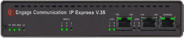 ipexpress v35 front panel